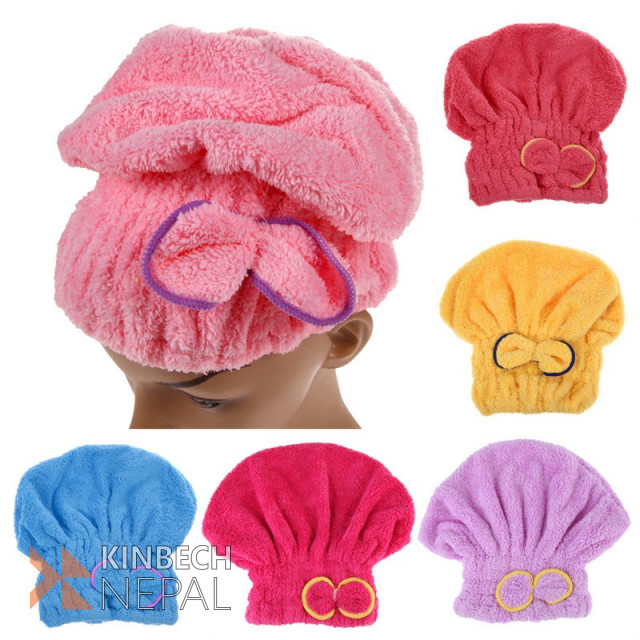 Microfiber Quick Drying Hair Towel Wrap | www.kinbechnepal.com
