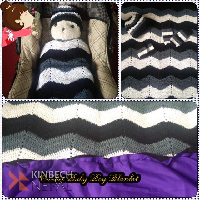 Crochet Ripple Blanket Pattern | www.kinbechnepal.com