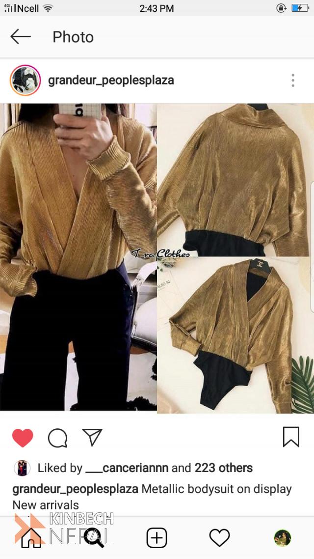 Gold Body Suit | www.kinbechnepal.com