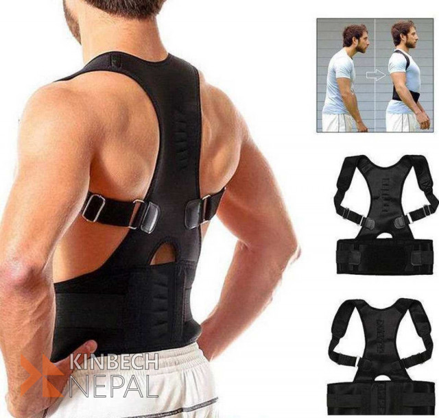Magnetic Corset Back Shoulder Correction Brace Belt | www.kinbechnepal.com