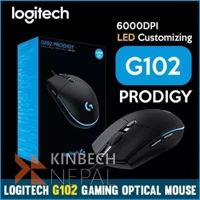 Gaming Mouse Logitech G102 Prodigy Usb Ap Black | www.kinbechnepal.com