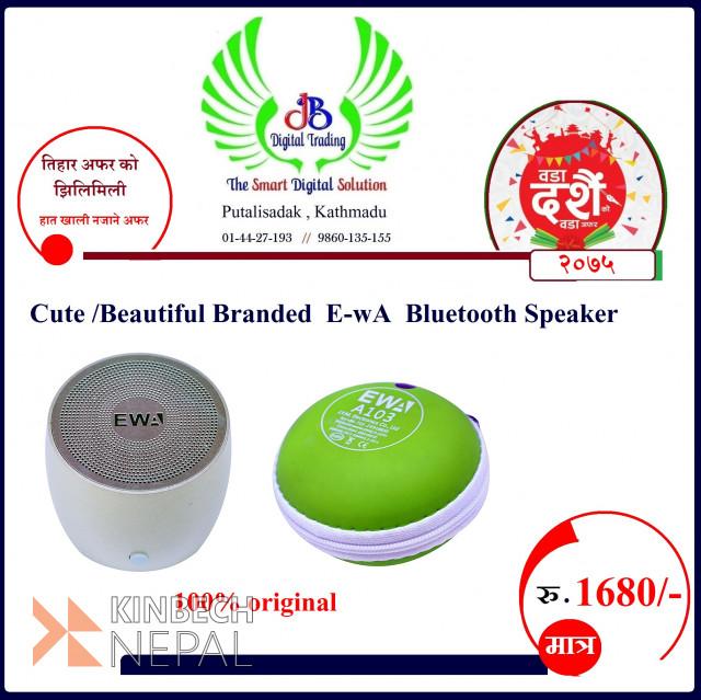 Beautiful  Branded E-wa Bluetooth Speaker  Dashain Offer   www.kinbechnepal.com
