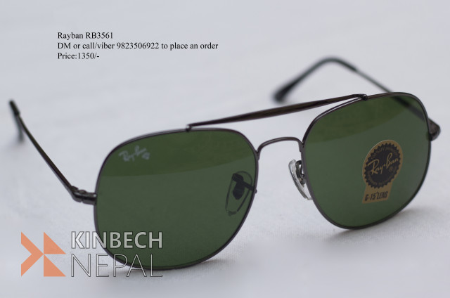 RAYBAN RB3561 (Pilot Style Sunglasses) | www.kinbechnepal.com