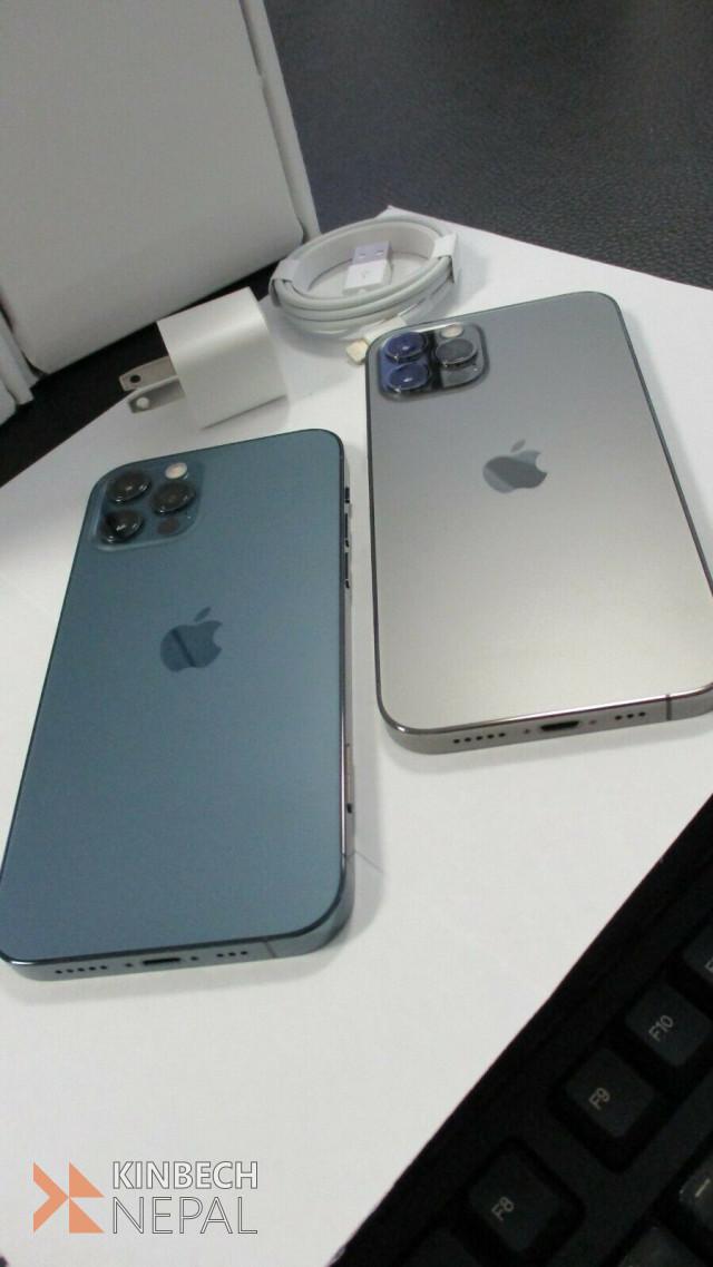 Apple iPhone 12 Pro 512GB Blue Factory Unlocked white   www.kinbechnepal.com