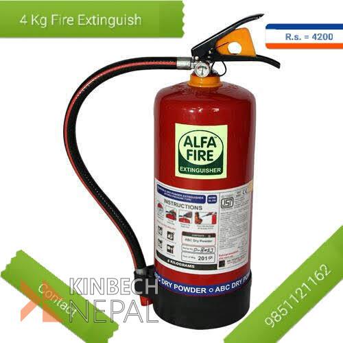 4 kg fire extinguisher In kathamandu | www.kinbechnepal.com
