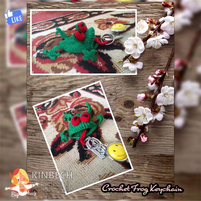 Crochet Frog Keychain | www.kinbechnepal.com