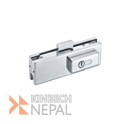 Toughened Glass Door Lock RV Plus   www.kinbechnepal.com