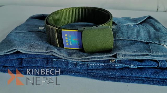 Linen Shirt, Jeans Pants and Leather Belt Combo | www.kinbechnepal.com