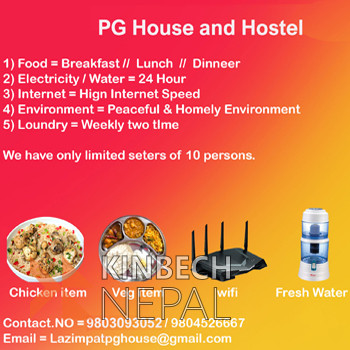 PG HOUSE AND HOSTEL | www.kinbechnepal.com