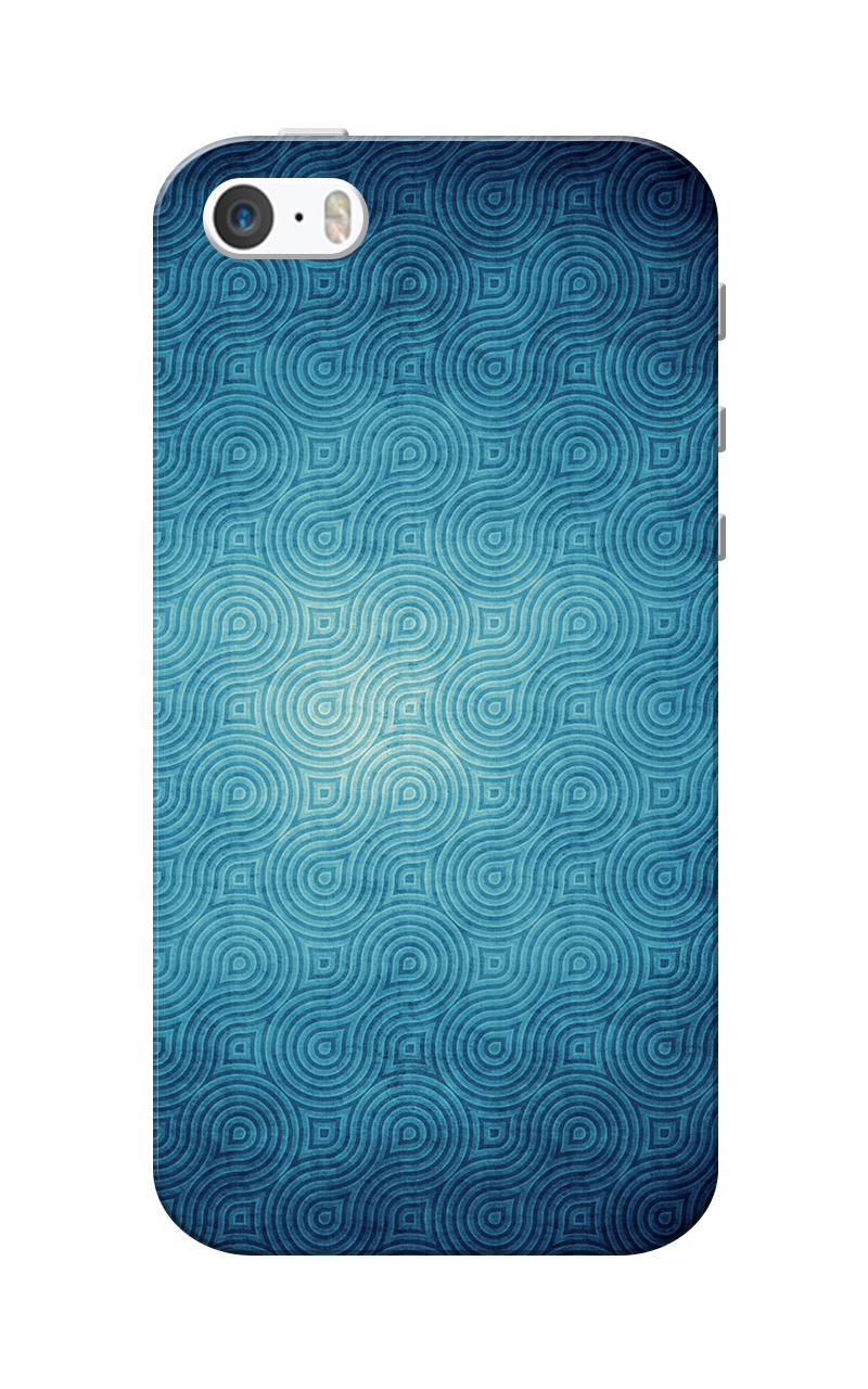 Caseria Blue Waves Pattern Slim Fit Hard Case Cover for Apple iPhone 5/5s