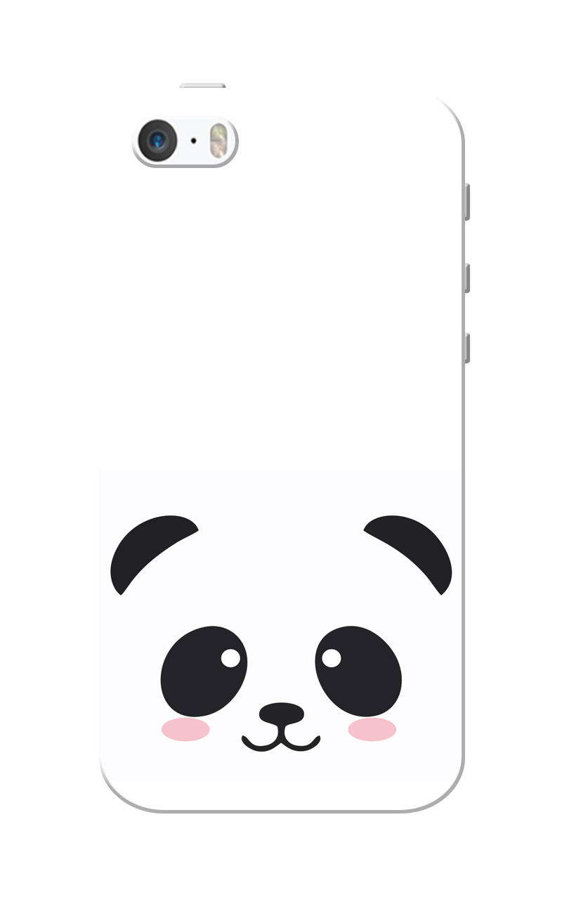 Caseria Black Cute Animal White Slim Fit Hard Case Cover for Apple iPhone 5/5s