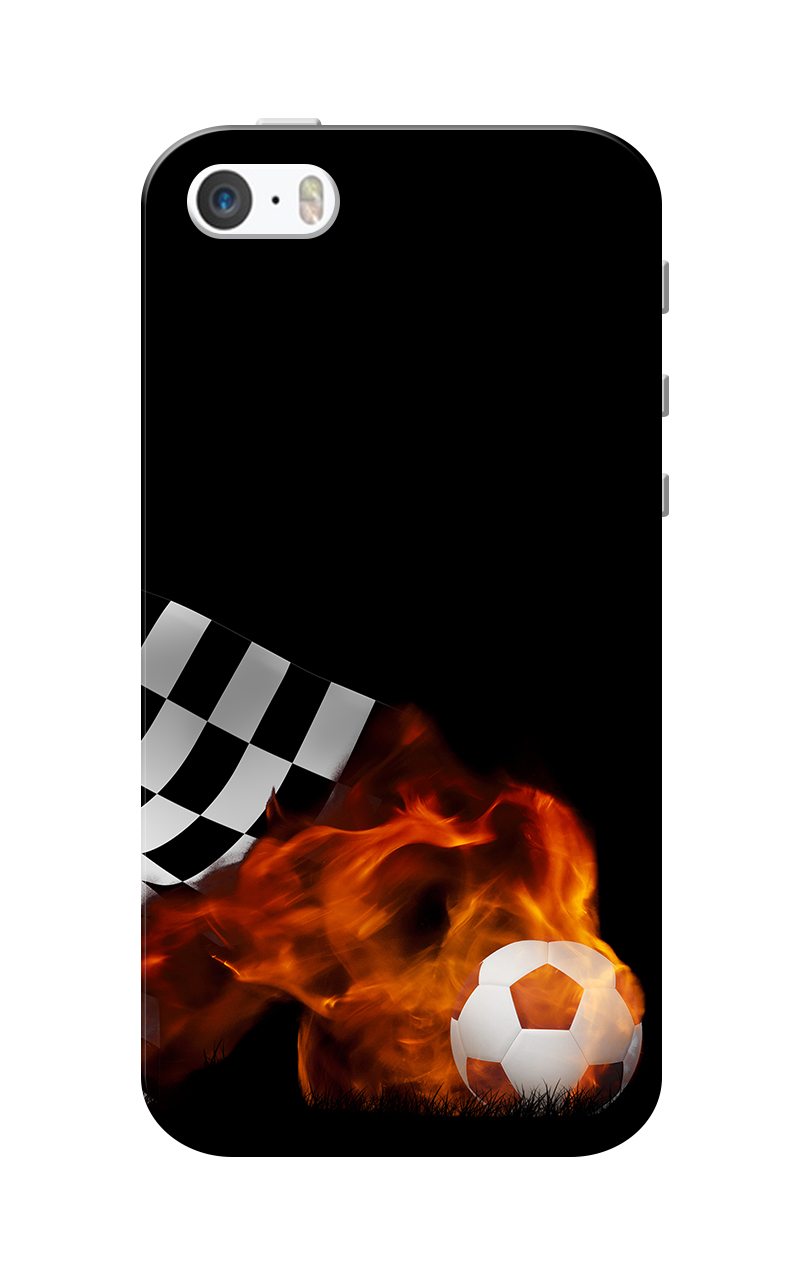 Caseria Football Blast Black Slim Fit Hard Case Cover for Apple iPhone 5/5s