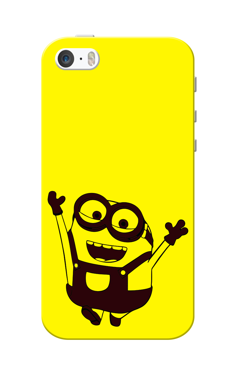Caseria Min Yellow Slim Fit Hard Case Cover for Apple iPhone 5/5s