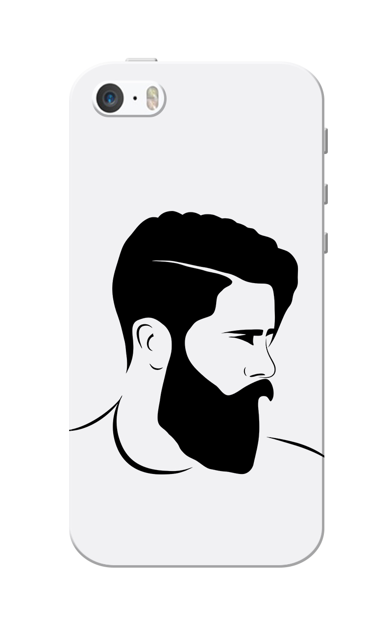Caseria Mr.Perfect Grey Slim Fit Hard Case Cover for Apple iPhone 5/5s