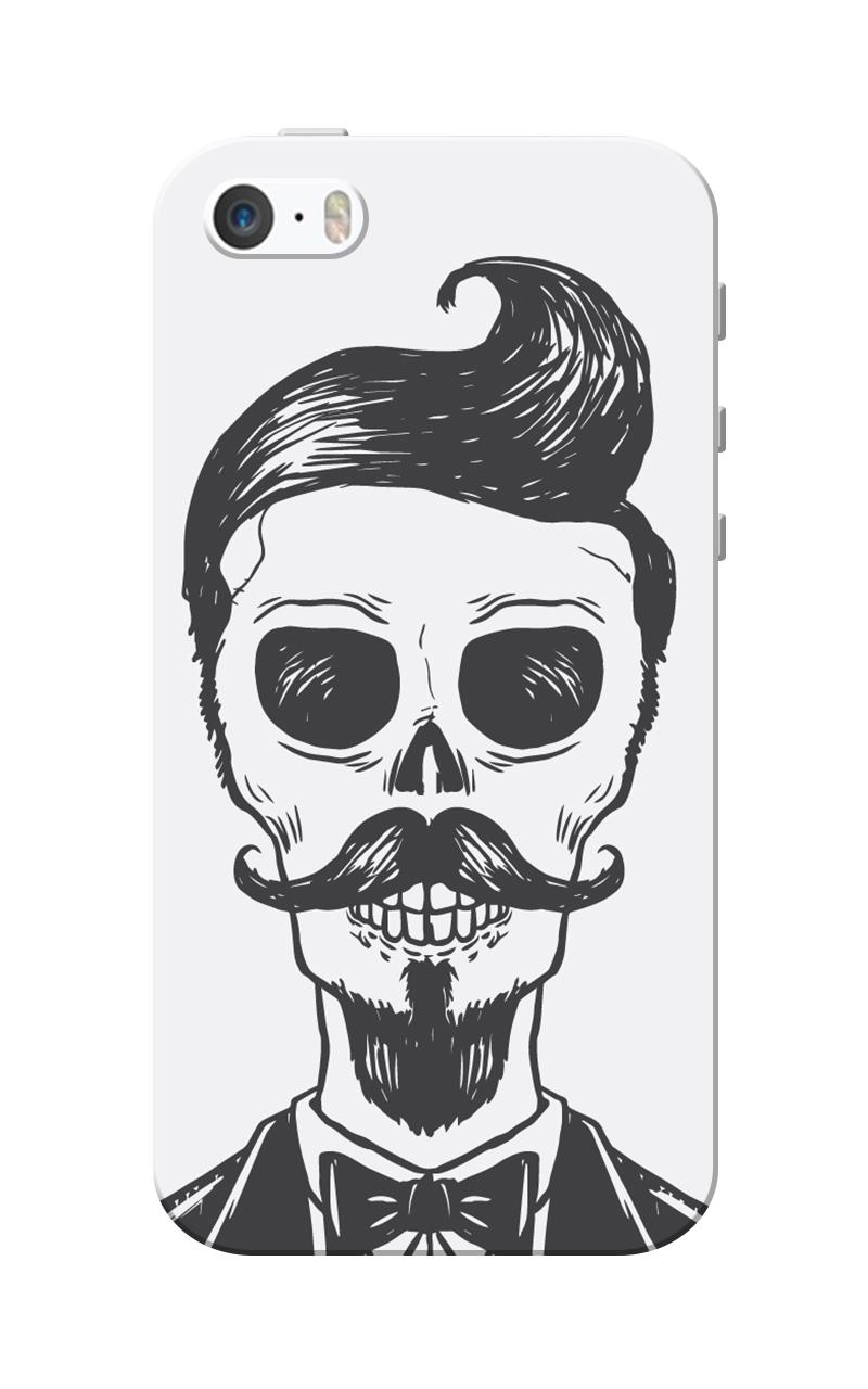 Caseria Mr.Skeleton Grey Slim Fit Hard Case Cover for Apple iPhone 5/5s