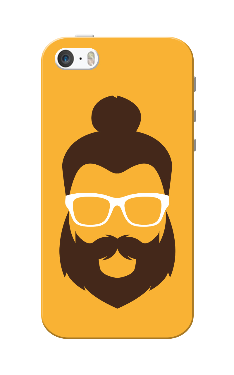 Caseria Mr.Cool Orange Slim Fit Hard Case Cover for Apple iPhone 5/5s