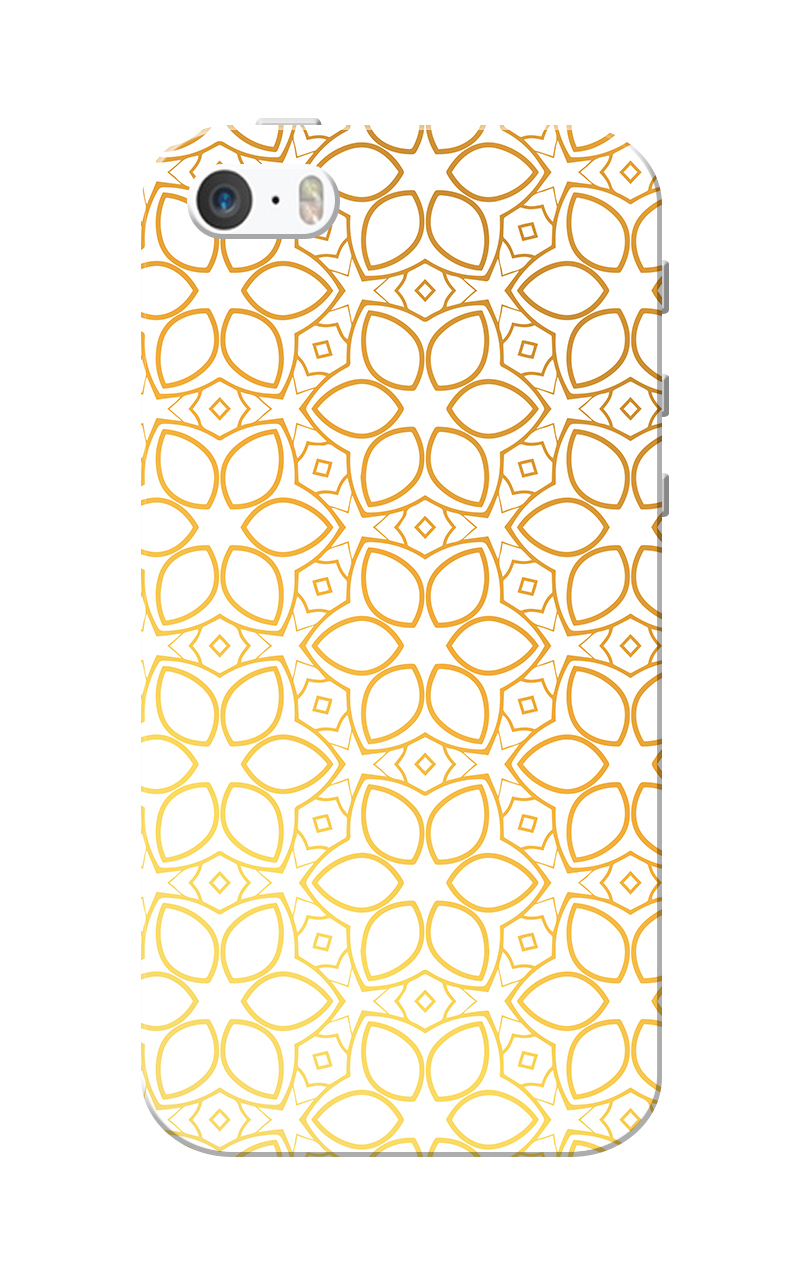 Caseria Petals Slim Fit Hard Case Cover for Apple iPhone 5/5s