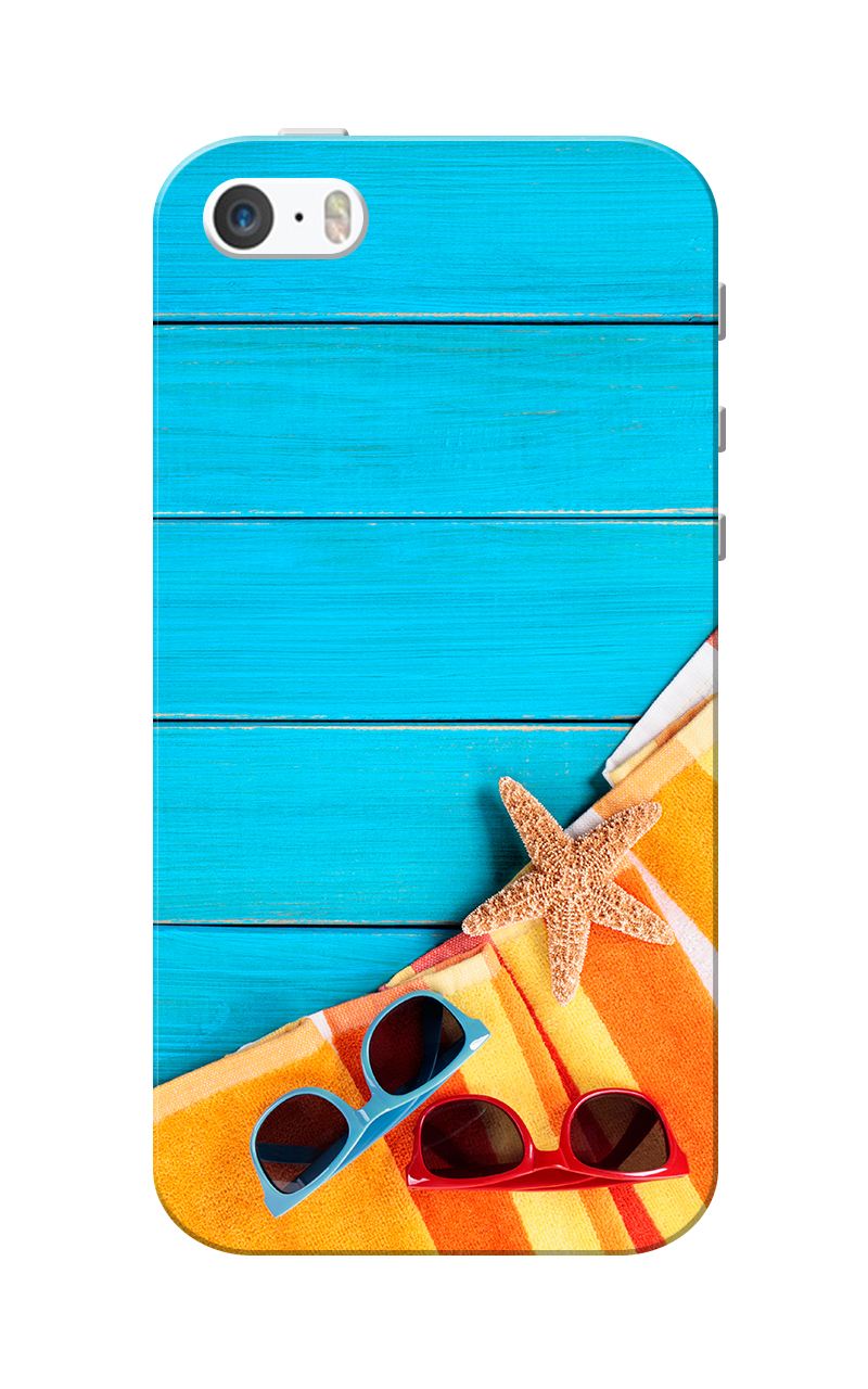 Caseria Summer Blue Slim Fit Hard Case Cover for Apple iPhone 5/5s