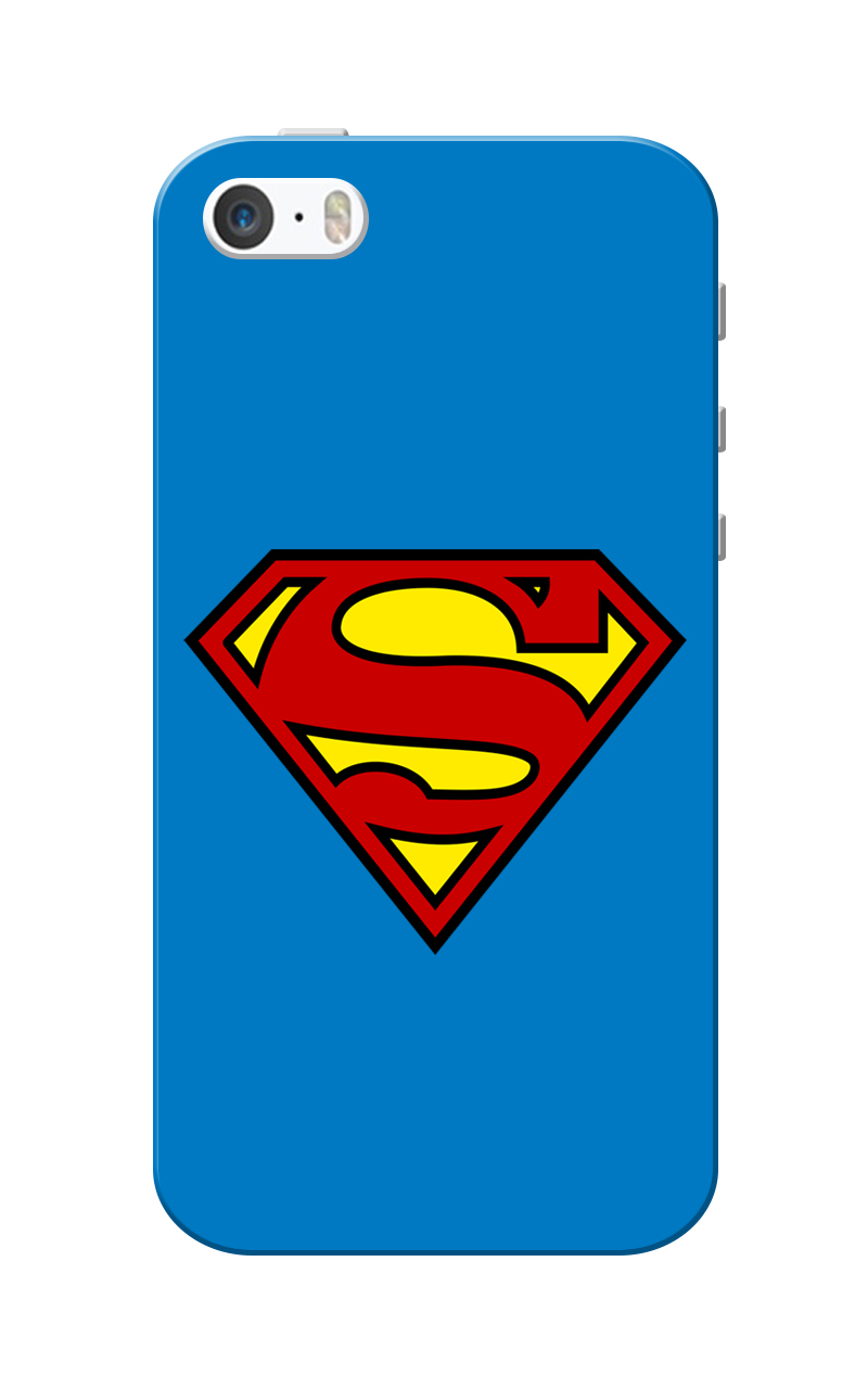 Caseria Supermn Blue Slim Fit Hard Case Cover for Apple iPhone 5/5s
