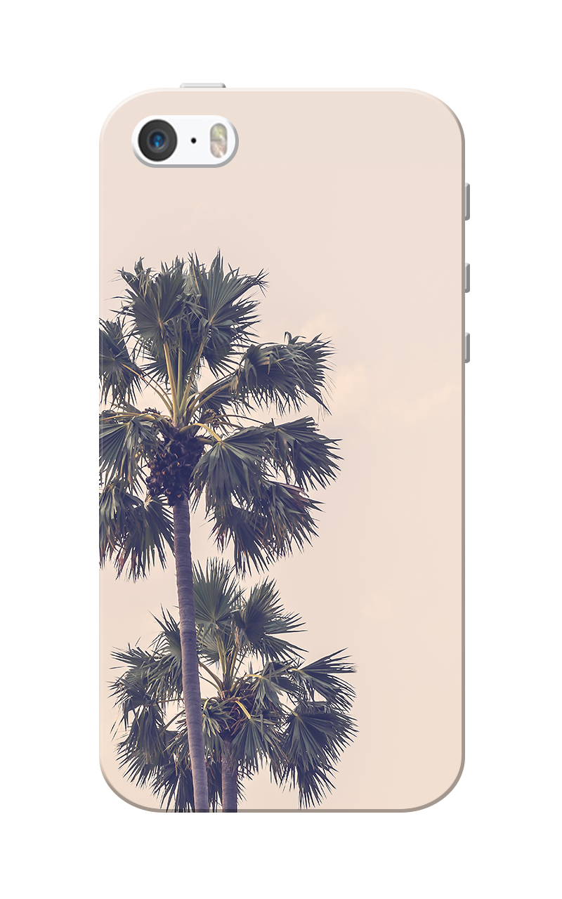 Caseria Coconut Tree Pink Slim Fit Hard Case Cover for Apple iPhone 5/5s
