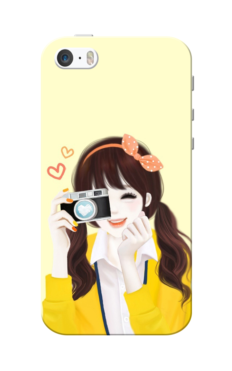 new product 99d3b e5ea6 Caseria Lovely Cute Girl Love Camera Slim Fit Hard Case Cover for ...