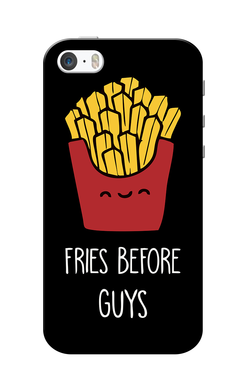 Caseria Fries Before Guys Black Slim Fit Hard Case Cover for Apple iPhone 5/5s