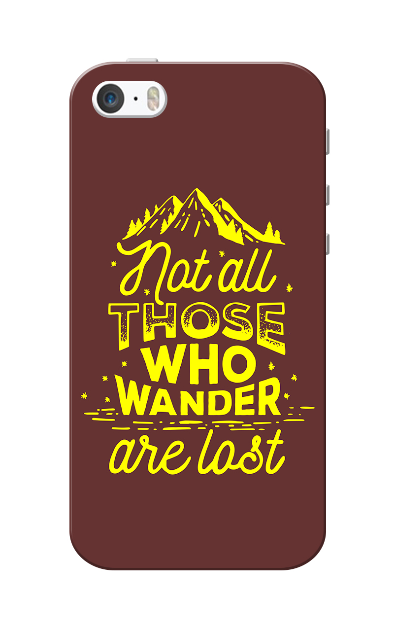 Caseria Wander Maroon Slim Fit Hard Case Cover for Apple iPhone 5/5s