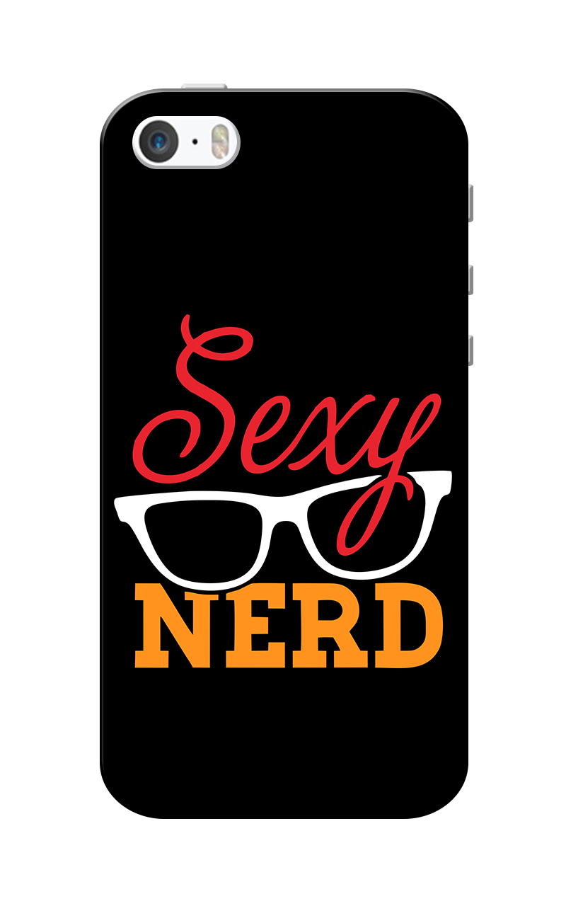 Caseria Sexy Nerd Black Slim Fit Hard Case Cover for Apple iPhone 5/5s