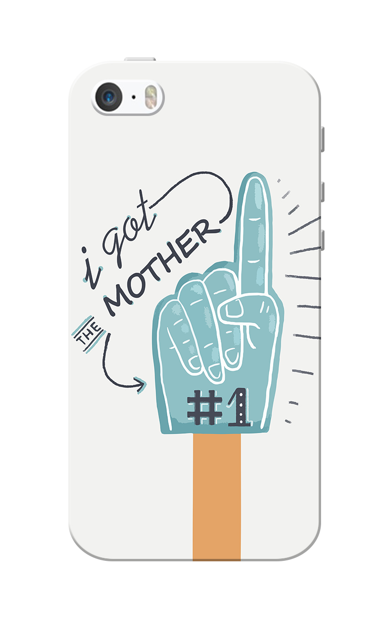 Caseria I Got Mother White Slim Fit Hard Case Cover for Apple iPhone 5/5s