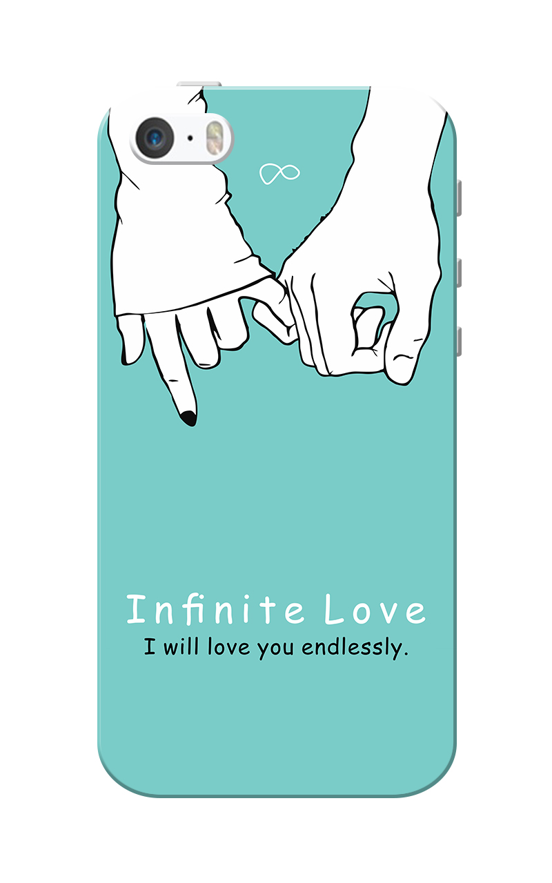 Caseria Infinite Love Slim Fit Hard Case Cover for Apple iPhone 5/5s