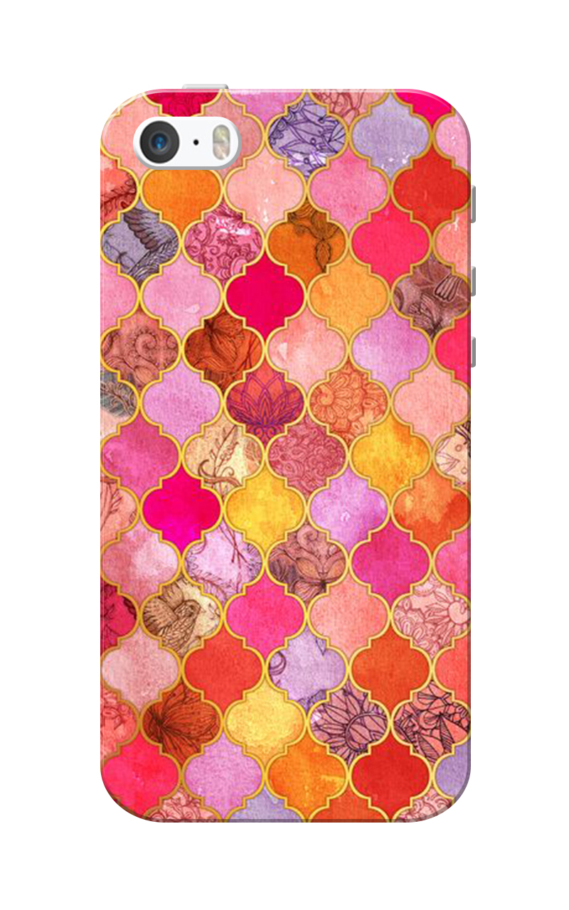 Caseria PinkOrange Color Slim Fit Hard Case Cover for Apple iPhone 5/5s