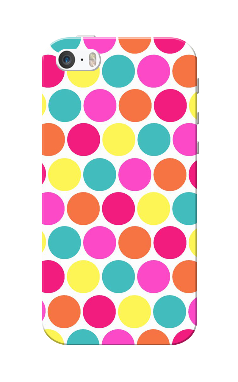Caseria Small Circles Slim Fit Hard Case Cover for Apple iPhone 5/5s