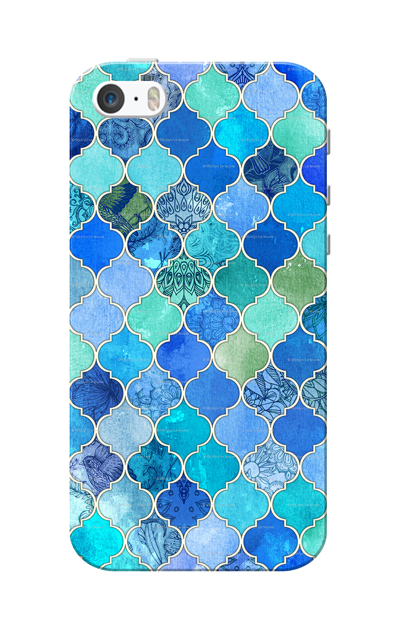 Caseria BlueGreen Color Slim Fit Hard Case Cover for Apple iPhone 5/5s