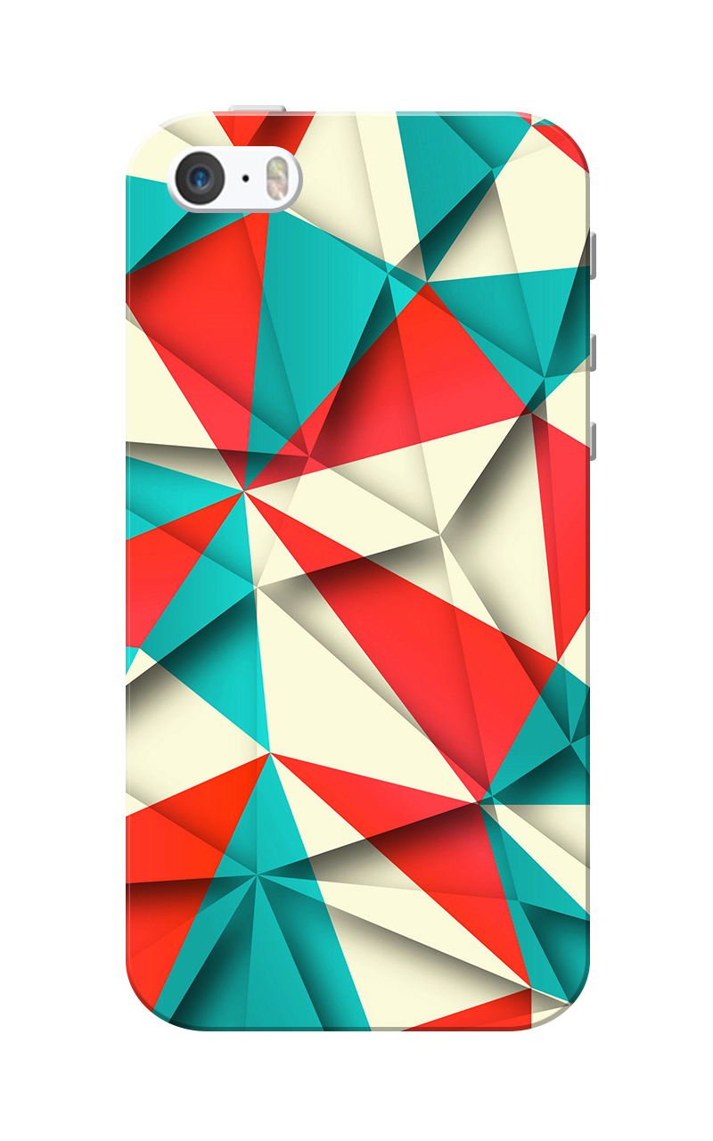Caseria Triangle design Slim Fit Hard Case Cover for Apple iPhone 5/5s