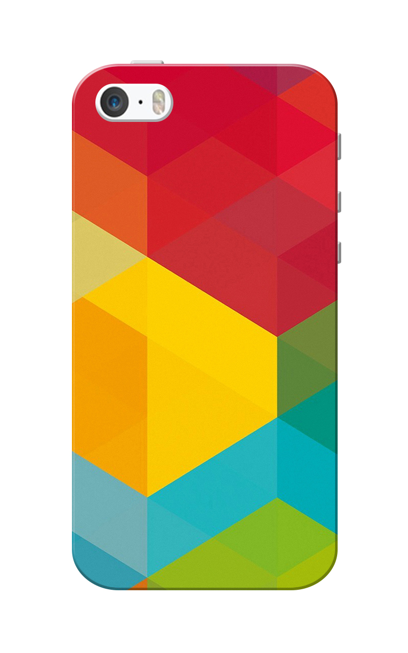 Caseria Multi Color Design Slim Fit Hard Case Cover for Apple iPhone 5/5s