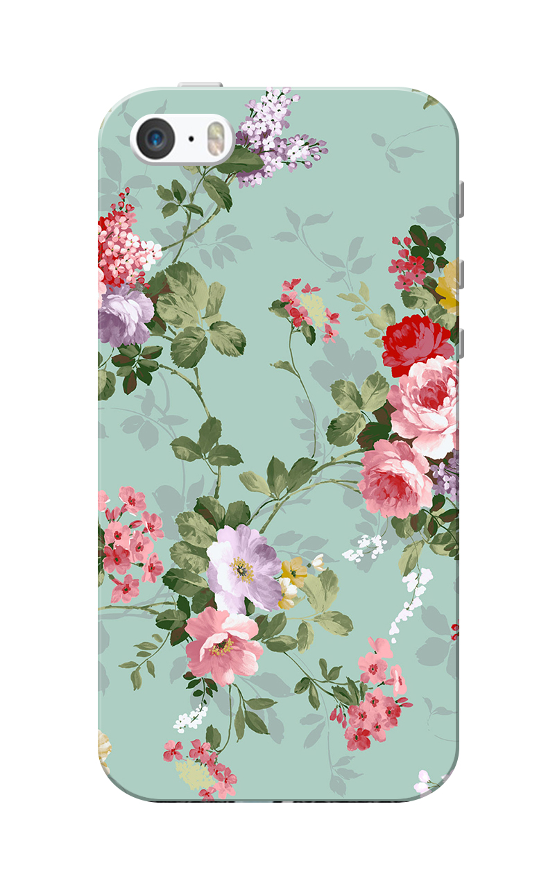 Caseria Floral Slim Fit Hard Case Cover for Apple iPhone 5/5s
