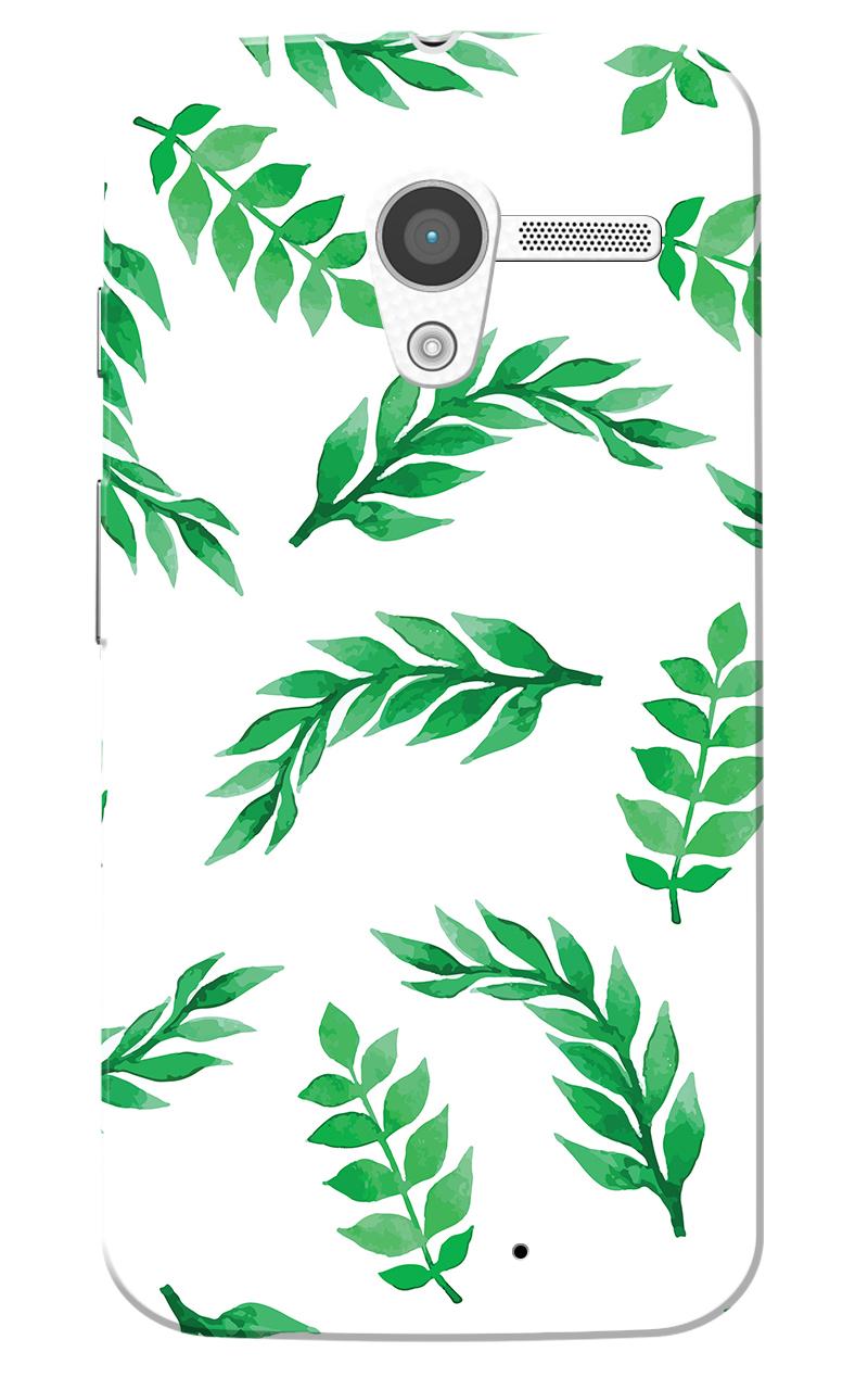 Caseria Green Leafs White