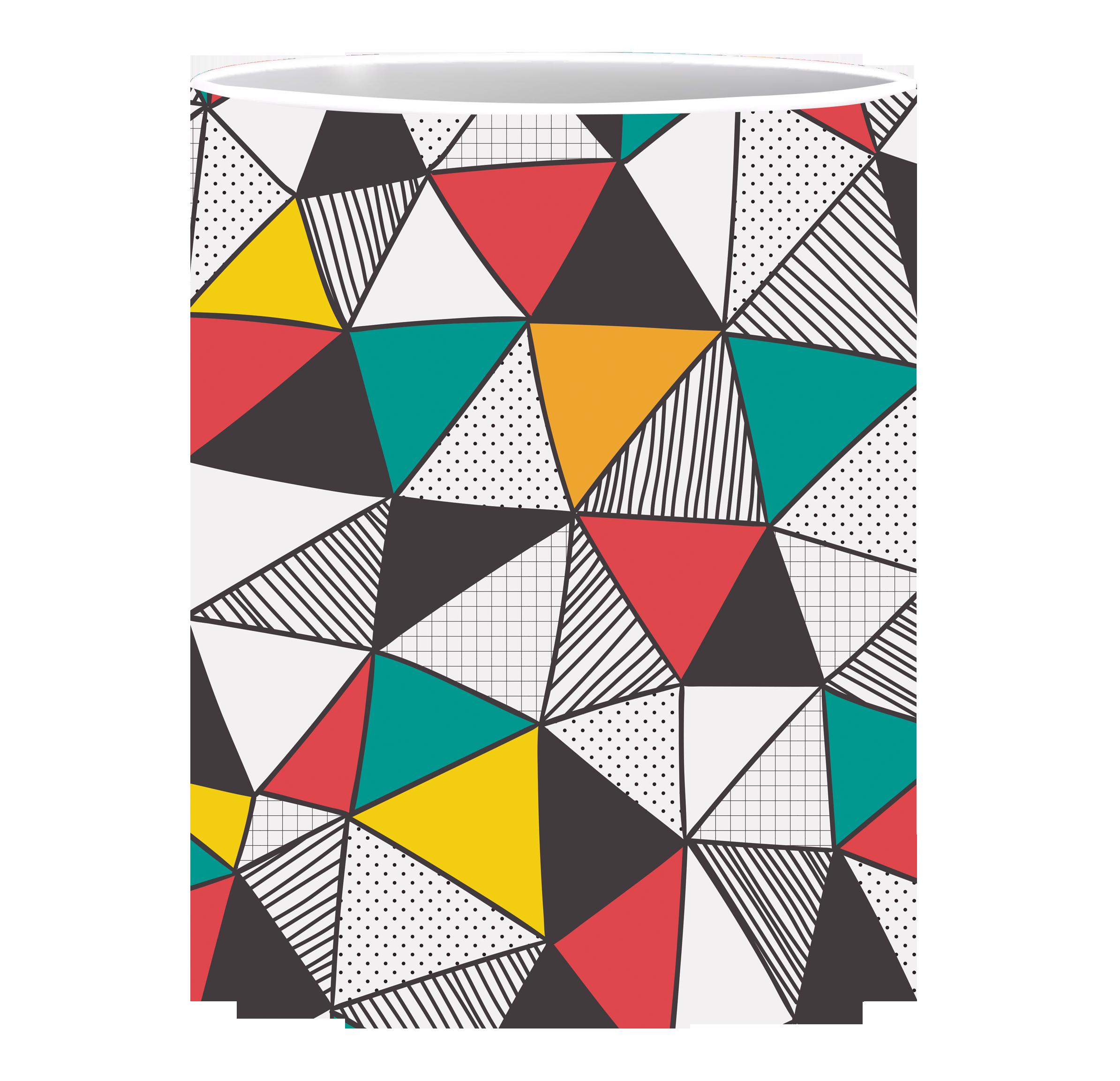 Coffee Mug, Multi Triangle
