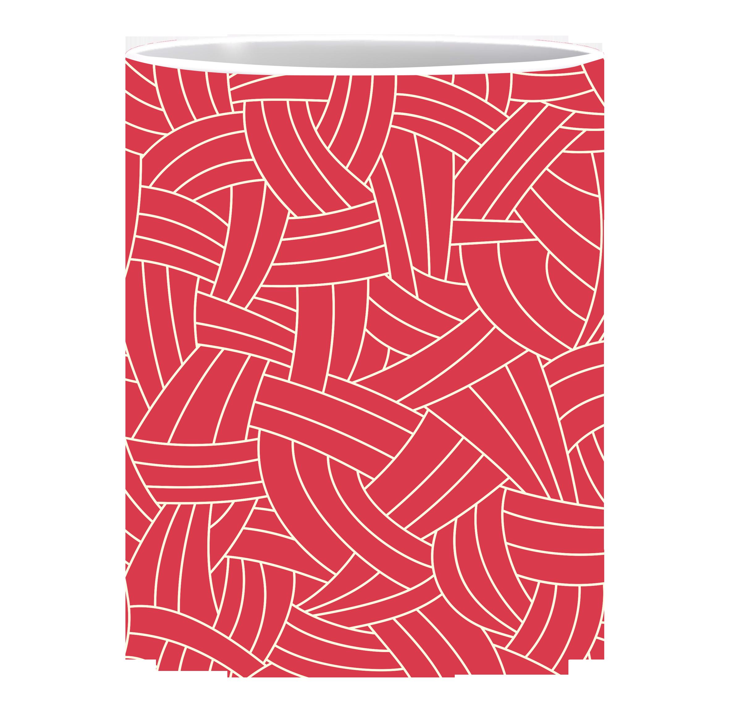 Coffee Mug, White Lines