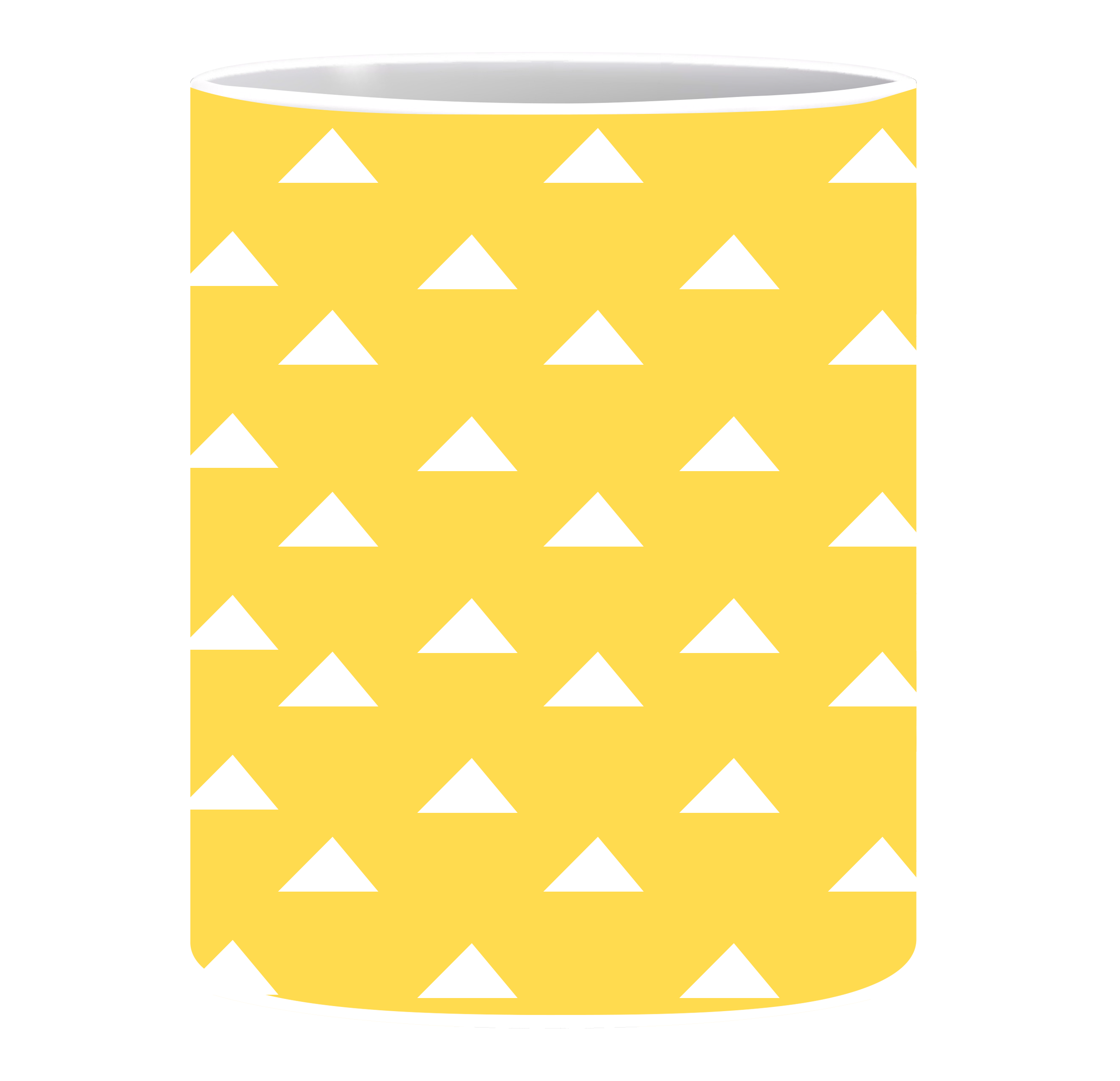 Coffee Mug, White triangle
