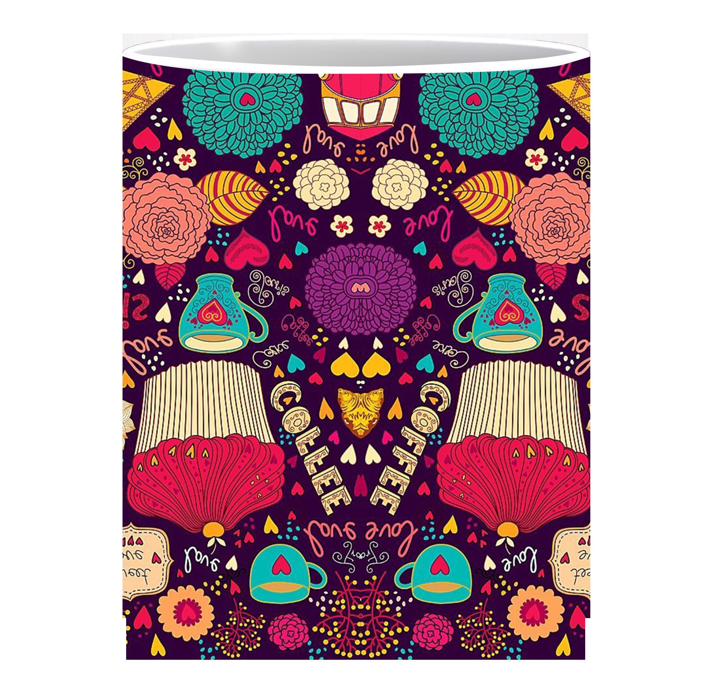 Coffee Mug, Paris Pattern