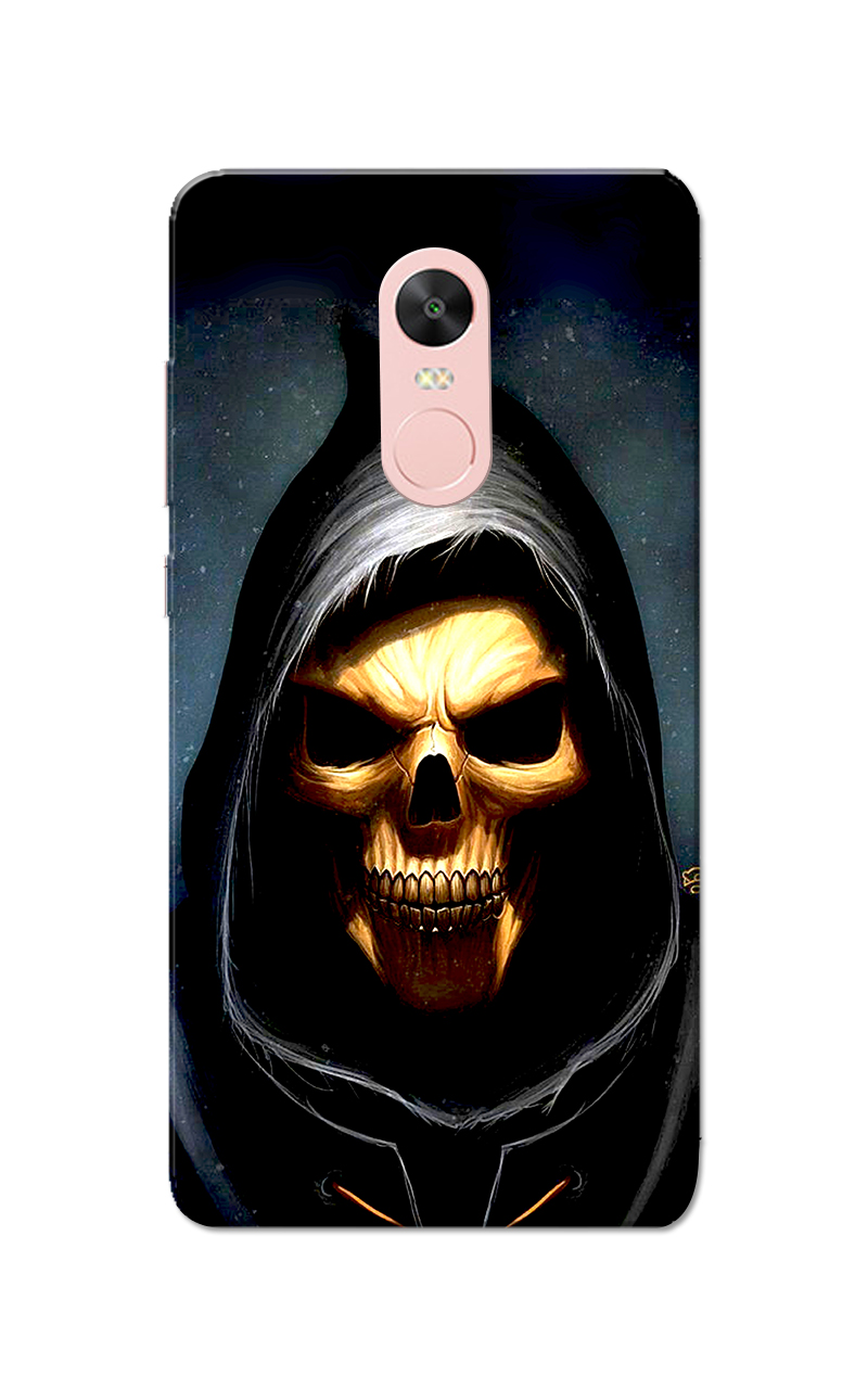 new concept cb899 d02b9 Caseria Skull Black Slim Fit Hard Case Cover for Redmi Note 4/Redmi ...