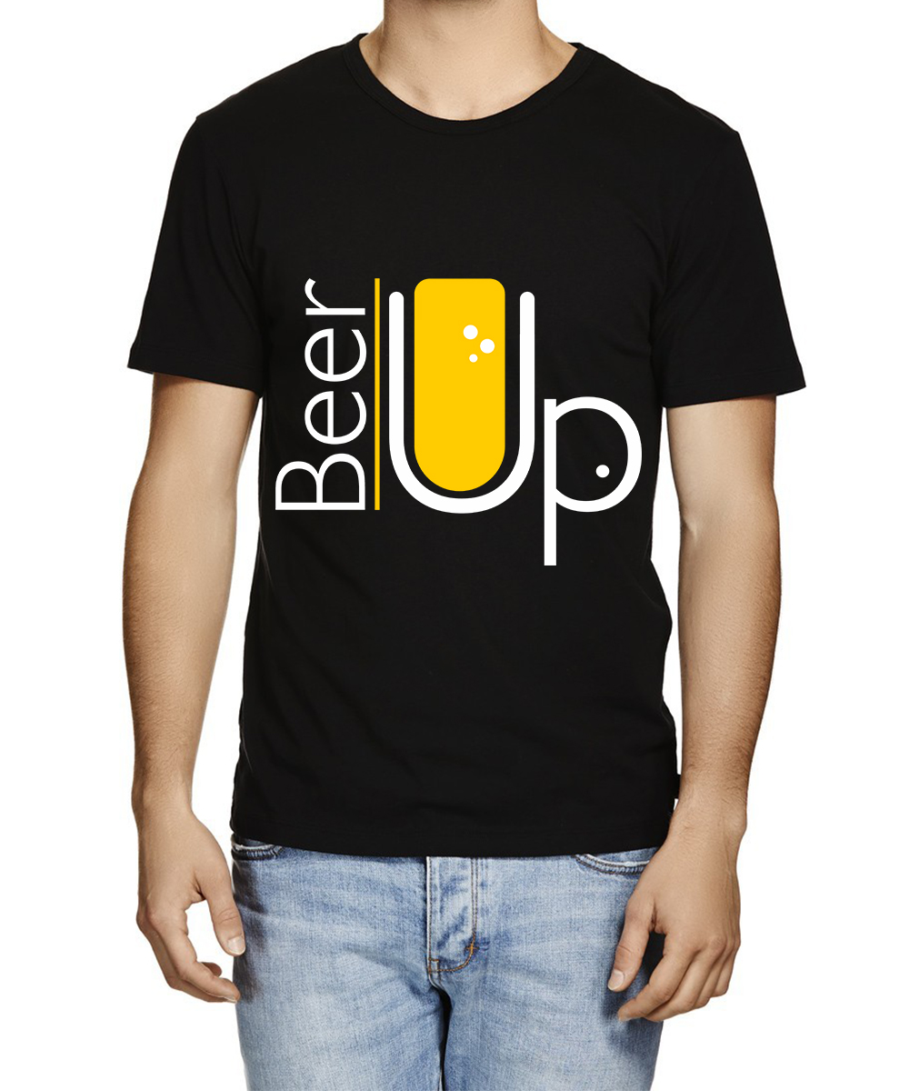Printed T-shirts Beer Upp
