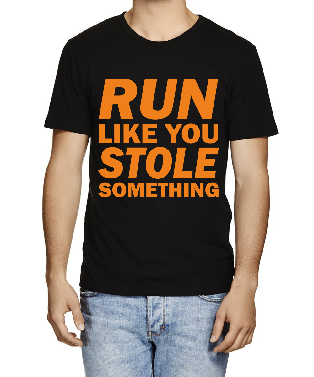 Printed T-shirts Run Like