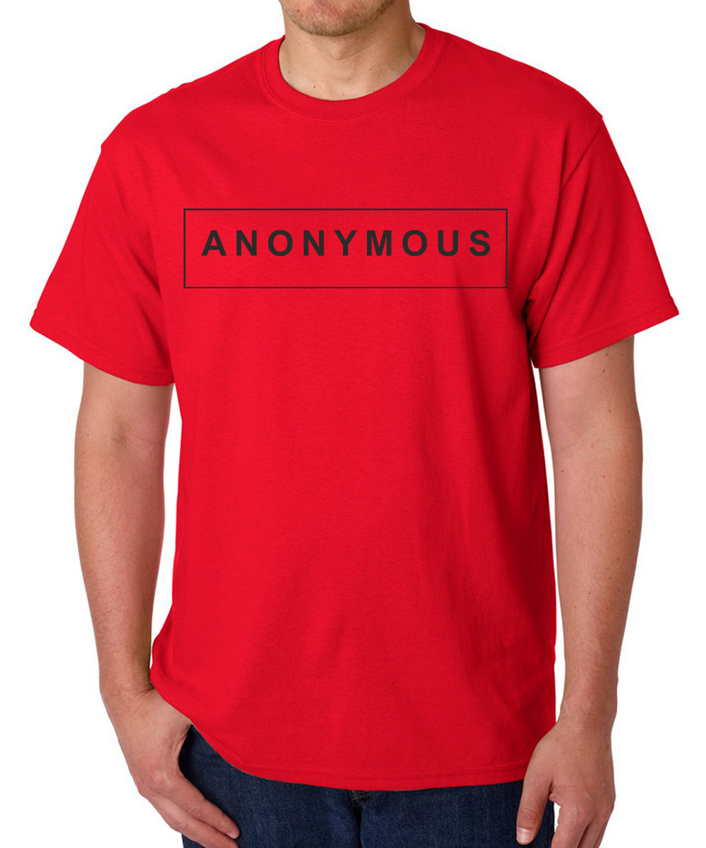 Printed T-shirts Annonymous
