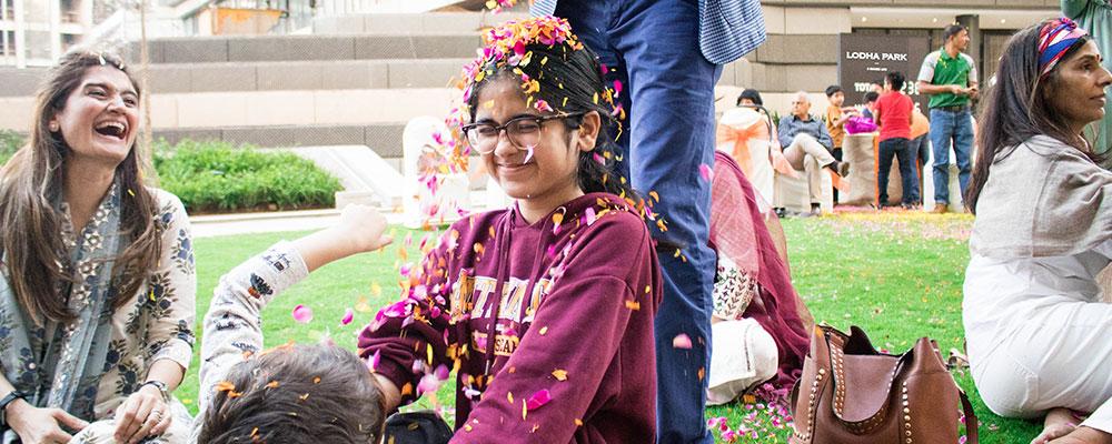 Lodha Park - Celebrating Phoolon Ki Holi