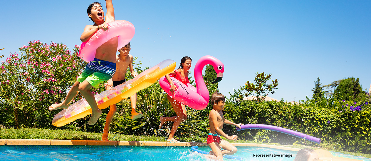 Lodha Crown, GB Road - Swimming Pool to Cool Down with Your Little Ones