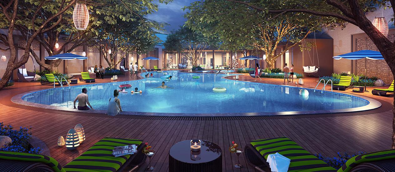 Lodha Upper Thane, Amenities - Luxurious Swimming Pool