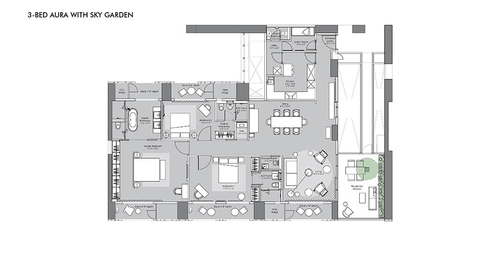 Lodha Evoq - 3 Bed Aura with Sky Garden