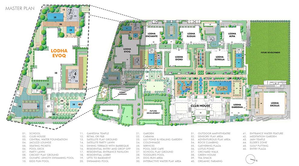 Lodha Evoq - Master Development Plan in Wadala